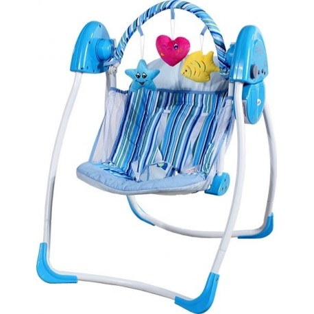Swing electric automatic Heart blue
