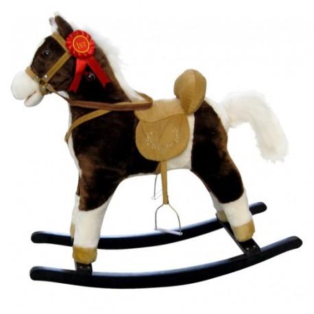 Rocking horse Mustang Dark Brown