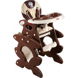 High chair with play table conversion Brown