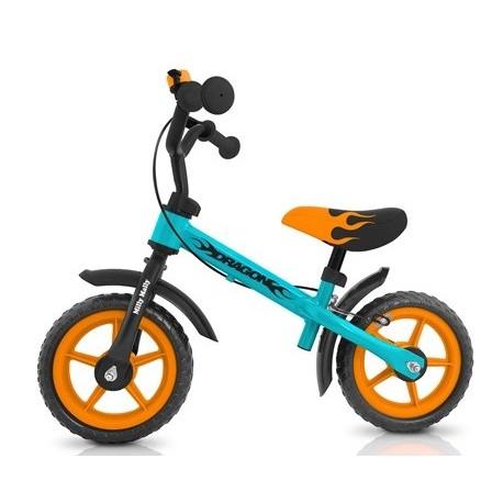 Dragon - balance bike with brake - blue-orange