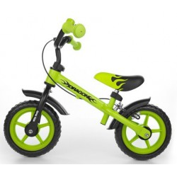 Dragon - balance bike with brake - green