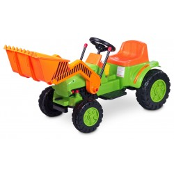 Electric ride-on car Bulldozer green