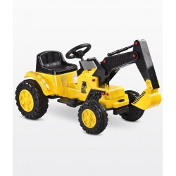 Electric ride-on car Digger yellow
