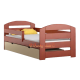 Solid pine wood junior daybed Kam3 with drawer 160x80 cm
