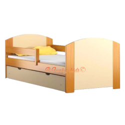Solid pine wood junior bed with drawer Kam4 160x80 cm