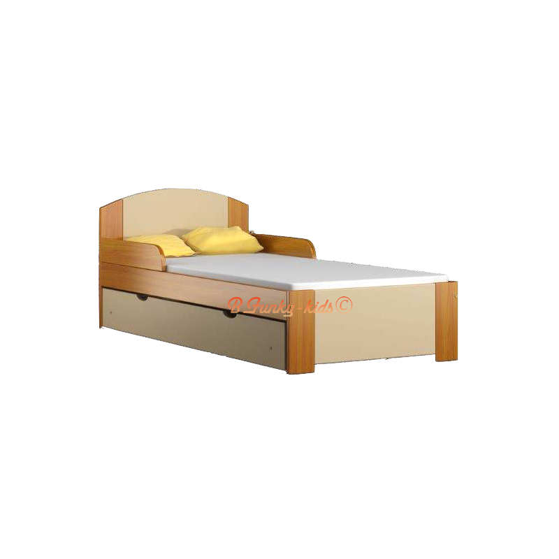 Solid Pine Wood Junior Daybed Dino 180x80 Cm Beds Red