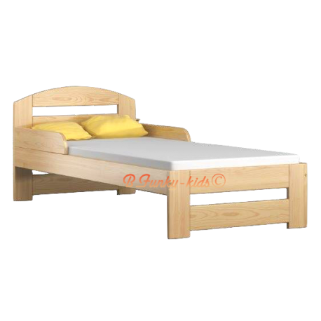 Solid pine wood junior bed Tim1 with drawer 160x70 cm