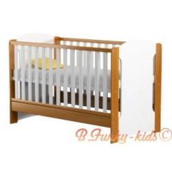 Solid pine wood cot bed Vera 140x70 cm