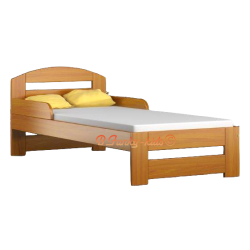Solid pine wood junior bed Tim1 with drawer 160x80 cm