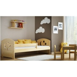 Solid pine wood junior daybed Molly with drawer 160x70 cm