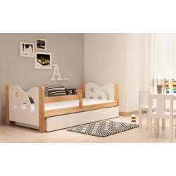 Solid pine wood junior daybed Moon with drawer 160x70 cm