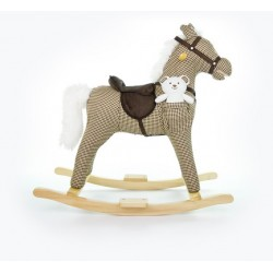 Rocking horse Mustang grid beige