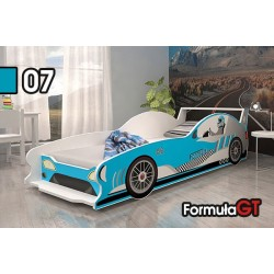 Racing Car Formula GT junior bed with mattress 160x80