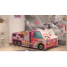 Pony Truck car junior girl bed with mattress 140x70 cm