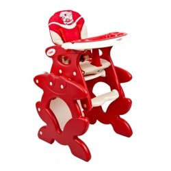 High chair with play table conversion Red