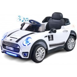 Electric ride-on car Maxi 12V white with remote control