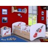 Toddler junior bed Happy Pear Collection with drawer and mattress 140x70 cm