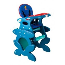 High chair with play table conversion Blue