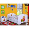 Toddler junior bed Boys Drawings Collection with drawer and mattress 140x70 cm