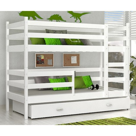 Bunk bed John with mattresses and drawer 180x80 cm