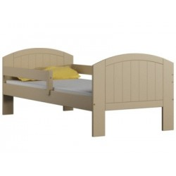 Solid pine wood junior bed Milly with drawer 160x70 cm