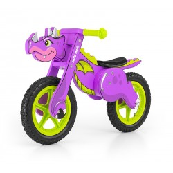 Dino purple - balance running bike