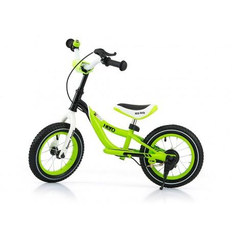Hero - balance bike with brake - green
