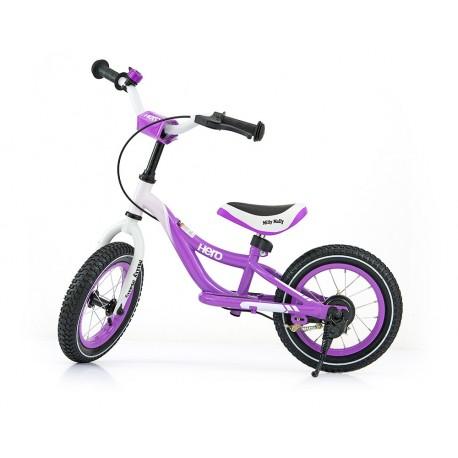 Hero - balance bike with brake - purple