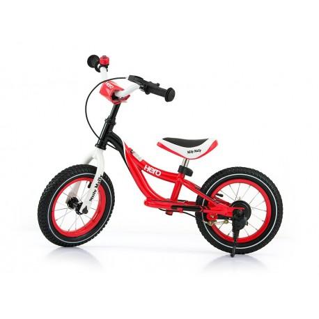 Hero - balance bike with brake - red