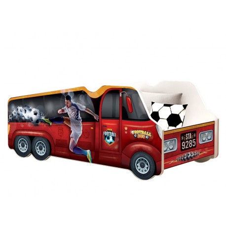 Football car junior bed 140x70 cm