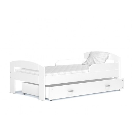 Solid pine wood junior toddler bed Greg with drawer 160x80 cm