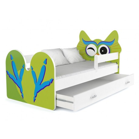Toddler junior bed Owl with drawer