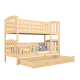 Solid pine wood bunk bed Jacob 2 180x80 cm