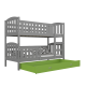 Bunk bed Jacob 2 with drawer 160x80 cm