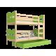 Solid pine wood bunk bed 190x80 cm