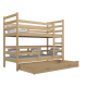 Solid pine wood bunk bed Jack 180x80 cm