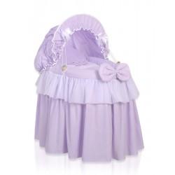 Wicker doll crib Little Princess violet