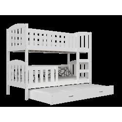 Solid pine wood bunk bed Jacob 3 200x90 cm