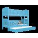 Solid pine wood bunk bed Jacob 3 190x80 cm
