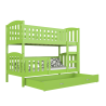 Solid pine wood bunk bed Jacob 2 160x80 cm