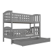 Solid pine wood bunk bed Jacob 2 190x80 cm