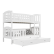 Solid pine wood bunk bed Jacob 2 200x90 cm