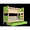 Solid pine wood bunk bed 160x80 cm