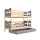 Solid pine wood bunk bed 160x80 cm