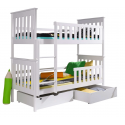 Solid pinewood bunk bed Oliver 180x80 cm