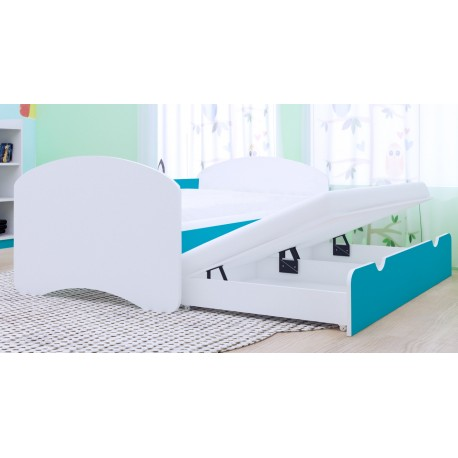 Trundle bed Happy Collection with roll-out drawer and 2 mattresses 160x80 cm