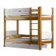 Solid pine wood bunk bed Walter 160x70 cm