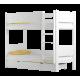 Solid pine wood bunk bed Walter 180x80 cm