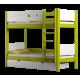 Solid pine wood bunk bed Walter 180x90 cm