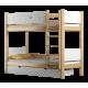 Solid pine wood bunk bed Walter 200x90 cm